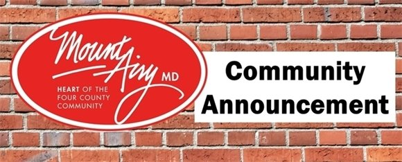 Town of Mount Airy Community Announcement
